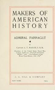 Cover of: Admiral Farragut by Alfred Thayer Mahan