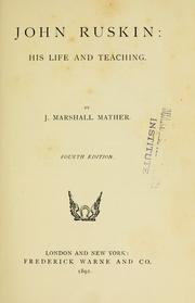 Cover of: John Ruskin by Marshall Mather