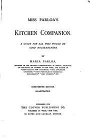 Miss Parloa's kitchen companion