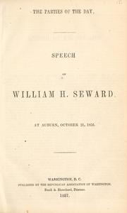 Cover of: The parties of the day | William Henry Seward