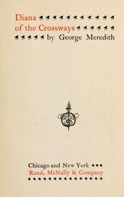 Cover of: Diana of the Crossways by George Meredith