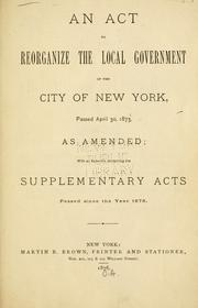Cover of: Laws, etc by New York (State)