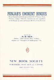 Cover of: Punjab's eminent Hindus by Sen, N. B.