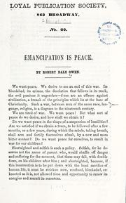 Cover of: Emancipation is peace by Robert Dale Owen