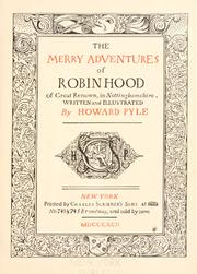 Cover of: The merry adventures of Robin Hood | Howard Pyle