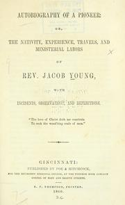 Cover of: Autobiography of a pioneer by Jacob Young