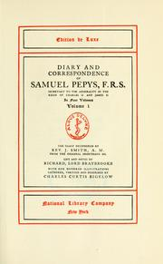 Cover of: Diary and correspondence | Samuel Pepys