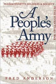 Cover of: A People's Army | Fred Anderson