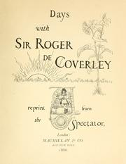 Cover of: Days with Sir Roger de Coverley | Joseph Addison