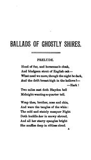 Cover of: Ballads of ghostly shires | Bartram, George.