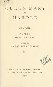 Cover of: Works, annotated | Alfred, Lord Tennyson