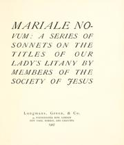 Cover of: Mariale novum | Jesuits.