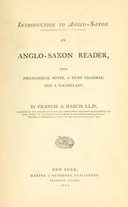 Cover of: Introduction to Anglo-Saxon | Francis Andrew March