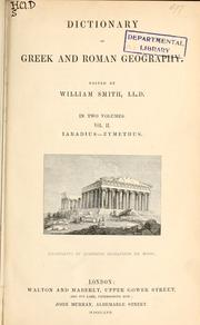 Cover of: Dictionary of Greek and Roman geography | William Smith