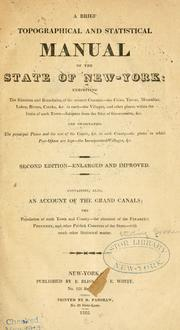 Cover of: A brief topographical & statistical manual of the state of New-York | Sterling Goodenow