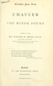 Cover of: The minor poems | Geoffrey Chaucer