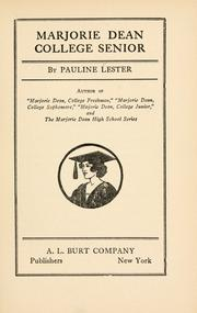 Cover of: Marjorie Dean, college senior by Pauline Lester