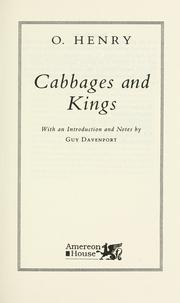 Cover of: Cabbages and Kings by O. Henry