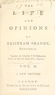 Cover of: The Life and Opinions of Tristram Shandy, Gentleman | Laurence Sterne