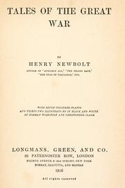 Cover of: Tales of the great war | Newbolt, Henry John Sir