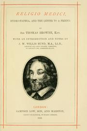 Cover of: Religio medici by Thomas Browne
