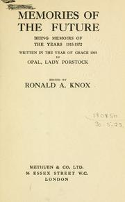 Cover of: Memories of the future by Ronald Arbuthnott Knox