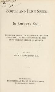 Cover of: Scotch and Irish seeds in American soil | J. G. Craighead