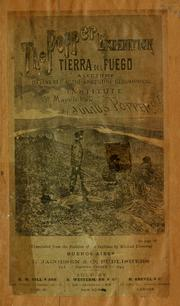 Cover of: The Popper Expedition, Tierra del Fuego by Julio Popper