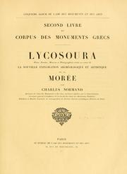 Cover of: Corpus des monuments grecs | Charles Nicolas Normand