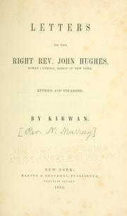 Cover of: Letters to the Right Rev. John Hughes | Nicholas Murray