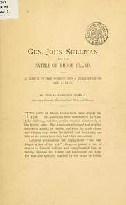 Cover of: Gen. John Sullivan and the battle of Rhode Island | Thomas Hamilton Murray