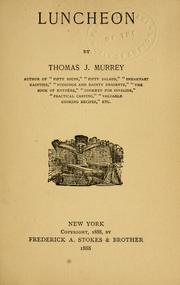 Cover of: Luncheon by Thomas J. Murrey