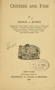 Cover of: Oysters and fish | Thomas J. Murrey