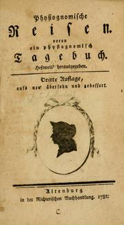 Cover of: Physiognomische Reisen | Johann Karl August Musaeus