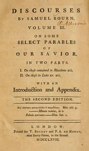 Cover of: On some select parables of our Savior by Samuel Bourn