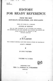 Cover of: History for ready reference | Larned, J. N.