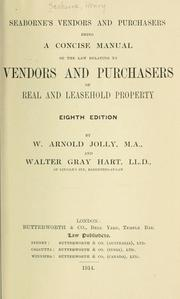 Cover of: Seaborne's Vendors and purchasers | Henry Seaborne