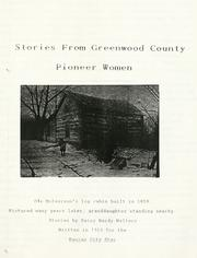 Cover of: Stories from Greenwood County pioneer women | Daisy Hardy Walters