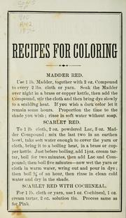 Cover of: Recipes for coloring by A. McClure & Co.