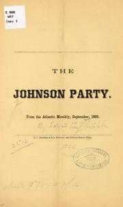 Cover of: The Johnson party by Edwin Percy Whipple
