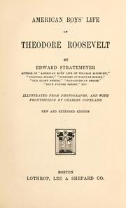 Cover of: American boys' life of Theodore Roosevelt by Edward Statemeyer