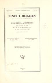 Cover of: ... Henry T. Helgesen (late a representative from North Dakota) by U. S. 65th Cong.