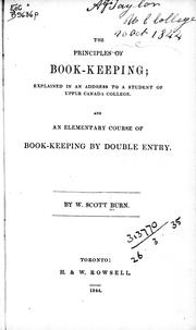 Cover of: The Principles of book-keeping | W. Scott Burn