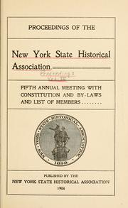 Cover of: Proceedings of the New York State Historical Association | New York State Historical Association. Meeting.