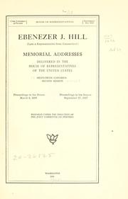 Cover of: Ebenezer J. Hill (late a representative from Connecticut) | United States. 65th Congress, 2d session