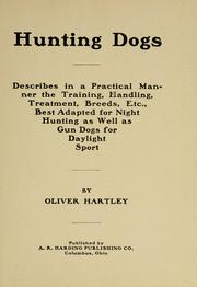Cover of: Hunting dogs | Hartley, Oliver.