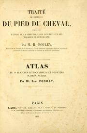 Cover of: Trait©Øe de l'organisation du pied du cheval by Henri-Marie Bouley