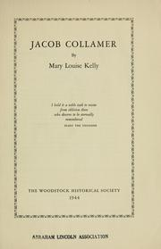 Cover of: Jacob Collamer | Mary Louise Kelly