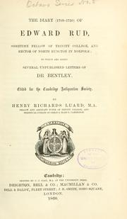 Cover of: The diary (1709-1727) of Edward Rud by Edward Rud