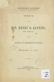 Cover of: Southern affairs | Henry B. Banning